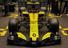 Suiza; Ginebra; 8 de marzo de 2018; Frente de Renault F1 RS18; Los 8 foto de archivo