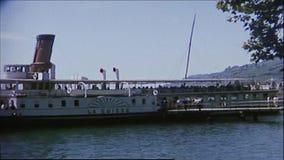 Suiza 1964: Traves?a del lago Lem?n almacen de video