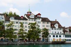 Suiza zurich El río de Limmat Imagen de archivo