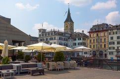 Suiza zurich El río de Limmat Imágenes de archivo libres de regalías