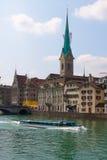 Suiza zurich El río de Limmat Foto de archivo libre de regalías