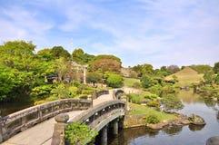 Suizen-ji Joju-en trädgård på Kumamoto, Japan Arkivbilder