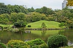 Suizenji庭院在熊本 免版税库存照片