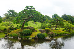 Suizenji庭院在熊本 图库摄影
