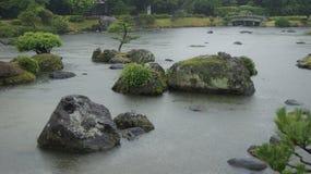Suizenji garden. Japan. Suizenji garden in Kumamoto, Japan royalty free stock photography