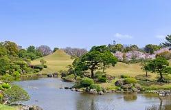 Suizenji ogród w Kumamoto, Japonia zdjęcia royalty free