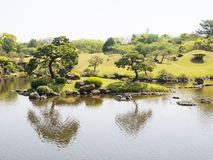 Suizenji Park, Japanese garden Royalty Free Stock Photography