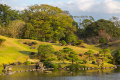 Suizenji Park, Japanese garden Stock Photo