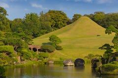 Suizenji Park. Japanese garden Royalty Free Stock Photos