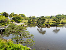 Suizenji Park, Japanese garden Royalty Free Stock Photo