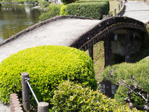 Suizenji Park, Japanese garden Royalty Free Stock Images