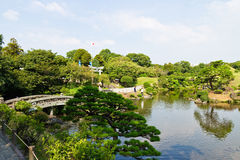 Suizenju Koen Lake in Kumamoto Stock Fotografie
