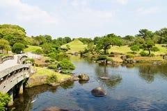 Suizenju Koen Lake in Kumamoto Royalty-vrije Stock Foto