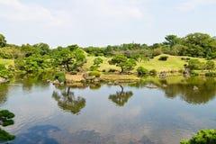 Suizenju Koen Lake at Kumamoto Stock Image