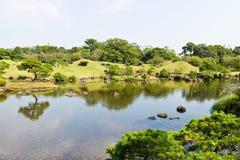 Suizenju Koen Lake at Kumamoto Stock Photo