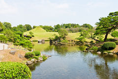 Suizenju Koen Lake at Kumamoto Royalty Free Stock Image