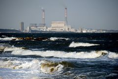 Suizhong coastal power plants Royalty Free Stock Images