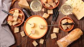 Suizo de la 'fondue' de queso foto de archivo