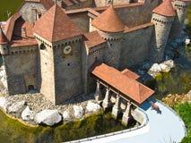 Suizo de Miniatur, edificios famosos en Suiza Imágenes de archivo libres de regalías