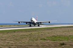Suizo A340 en vuelos del entrenamiento Imagen de archivo