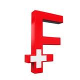 Suizo Franc Symbol Fotografía de archivo