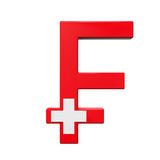 Suizo Franc Symbol Foto de archivo libre de regalías