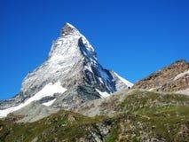 Suizo - Matterhorn Foto de archivo libre de regalías