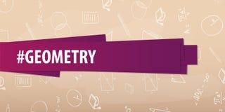 Sujet de la géométrie De nouveau au fond d'école (EPS+JPG) Bannière d'éducation Photographie stock