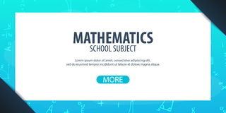 Sujet de mathématiques De nouveau au fond d'école (EPS+JPG) Bannière d'éducation Photo libre de droits