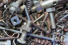 Sujetadores oxidados del metal Imagen de archivo