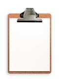 Sujetapapeles en blanco Fotografía de archivo libre de regalías