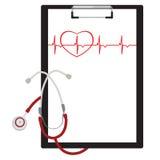 Sujetapapeles médico Imagen de archivo libre de regalías
