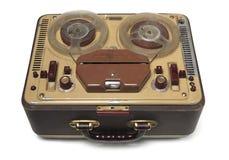 Sujetar con cinta adhesiva-registrador viejo Foto de archivo libre de regalías