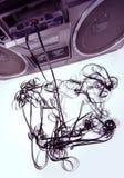 Sujete con cinta adhesiva el boombox que arroga Foto de archivo libre de regalías