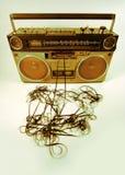 Sujete con cinta adhesiva el boombox que arroga Fotografía de archivo libre de regalías
