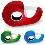 Sujete con cinta adhesiva el dispensador Imagen de archivo