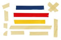 Sujete con cinta adhesiva la colección Foto de archivo