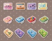 Sujete con cinta adhesiva las etiquetas engomadas Fotos de archivo libres de regalías
