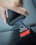 Sujete el cinturón de seguridad Fotografía de archivo