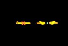 Sujete la muestra de los cinturones de seguridad Imagen de archivo libre de regalías