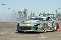 Sujets militaires stylisés ronds-x d'équipe de voiture Photo stock