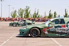 Sujets militaires stylisés ronds-x d'équipe de voiture Images stock
