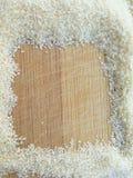 Suji kwadrat na drewnianym tle Fotografia Stock