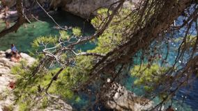 Sujiton Calanques de Marsella almacen de metraje de vídeo