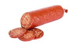 Sujuk sausage on white background Stock Images