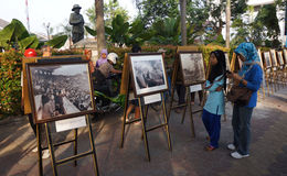 Sukarno photo exhibition Stock Image