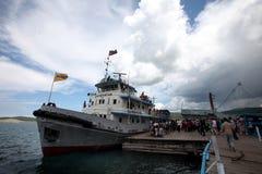 Sukbaatar, Russian ship, Kovsgol Lake Royalty Free Stock Image