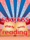 Sukcesów początki z czytaniem Zdjęcia Stock