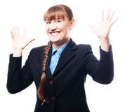 sukces biznesowa szczęśliwa kobieta Fotografia Royalty Free