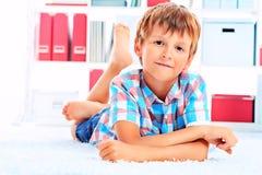 Sukces chłopiec zdjęcia royalty free